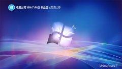 电脑公司win7 64位去广告技术版v2021.10